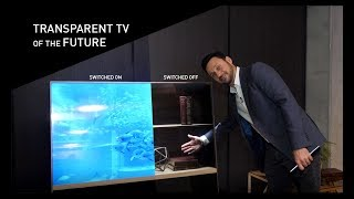 Future Of TV Seen Through Transparent OLED | Panasonic Backstage