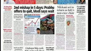 The Times of india 24/8/17 Todays live news.