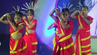 S E International School annual day 2015-2016 IVth std O re Kanchi song dance
