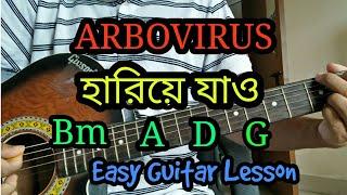 Hariye Jao | ARBOVIRUS | Bangla acoustic guitar chords lesson/cover/tutorial | Easy chords!!!