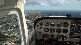 [ P3D v2.1 - HD ] Cessna 172 around Poetto sea in Sardinia Italy