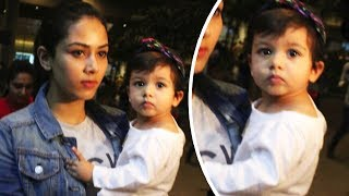 Shahid Kapoor's Wife Mira And Baby Misha Spotted At Airport