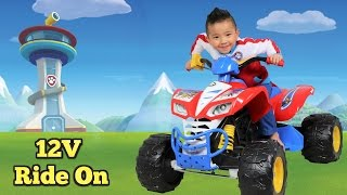 Unboxing Paw Patrol Kids Electric Battery Powered 12V Ride On Car With Ryder Ckn Toys