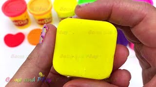Learn Colors with Play Doh and Shape Cutters