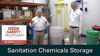 Sanitation Chemicals Storage and Food Safety