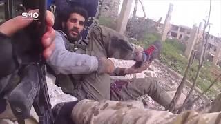 شاهد اقتحام تحصينات قوات الأسد في حي المنشية بدرعا