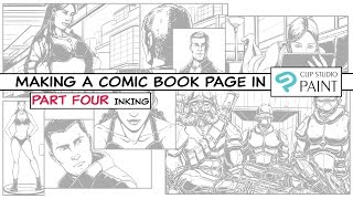 How to make a Comic Book Page in Clip Studio Paint - Part Four