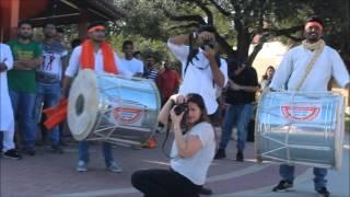 Shiv Jayanti celebration by Dhol Tasha Drummers TAMUK, USA.