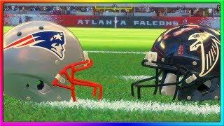 THE REMATCH! Patriots vs Falcons, Tom Brady vs Matt Ryan   Madden 18 Gameplay