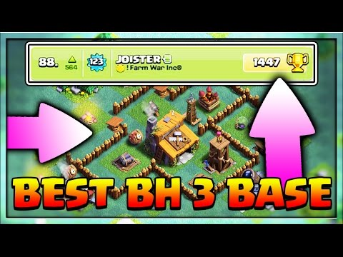 CLASH OF CLANS - BEST BASE FOR BH 3 (WITH PROOF!!)