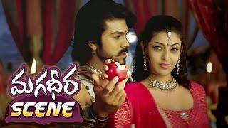 Kajal Aggarwal & Ram Charan Sharing Apple || Magadheera Telugu Movie || Dev Gill