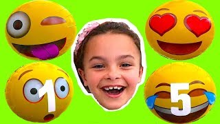 Kids Learn Numbers with Face Balloons Act Emoji Balloon. Learn numbers for Children and Toddlers