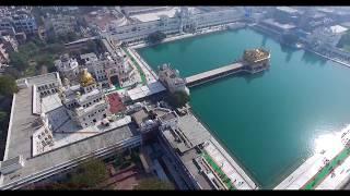 GOLDEN TEMPLE ( HARMANDHIR SAHIB ) AERIAL 4K VIDEO