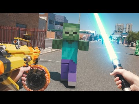 Minecraft In Real Life with Mods Nerf Mario LEGO & More