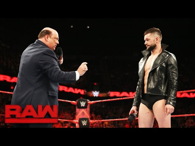 Paul Heyman places Finn Bálor above the rest for Extreme Rules Fatal 5-Way: Raw, May 22, 2017