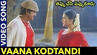 Tappuchesi Pappu Koodu Movie Songs || Vaana Kodtandi Video Song || Mohan Babu, Srikanth, Gracy Singh