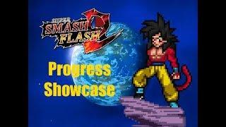 SSF2 MODS: SSJ4 Son Goku Revamp Progress Showcase!
