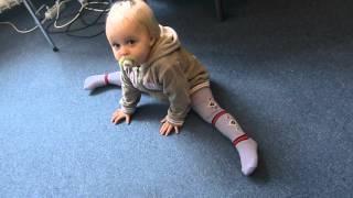 Babies are flexible - see Carina.AVI