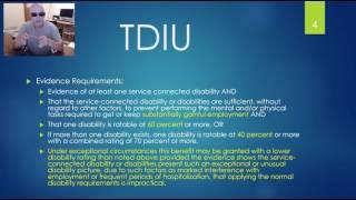 TDIU Claims for VA Compensation