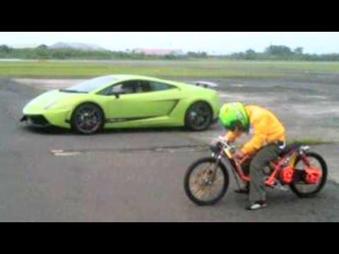 MOPED MIO vs LAMBORGHINI Drag Racing Who will win