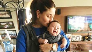 Kareena Kapoor Kissing Her Son Taimur - Adorable Pic