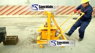 China QT40 -3c moving brick making machine make hollow block