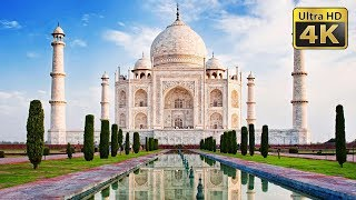 Taj Mahal - 4K Aerial Drone + Stock Footage