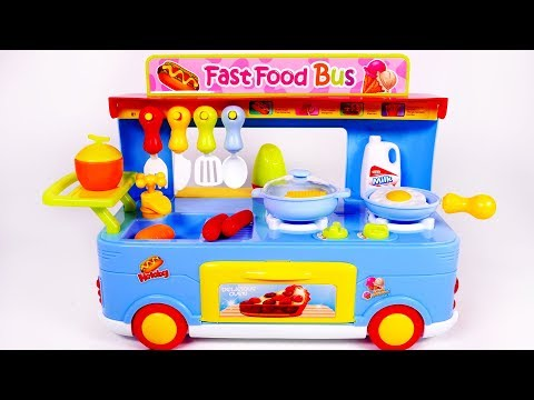 Download Lagu Fast Food Truck for Kids Cooking Kitchen Toy Playset for Kids MP3