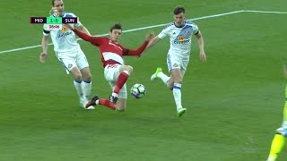 Marten De Roon gives Middlesbrough an early lead over Sunderland