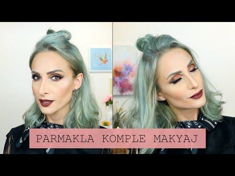 Sadece Parmakla Eyelinerlı Full Makyaj Challenge