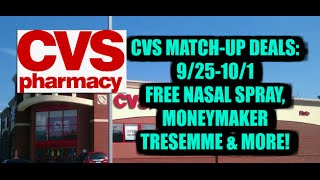 CVS Match-Ups: 9/25-10/1: Free Nasal Spray & Moneymaker Tresemme....plus more!