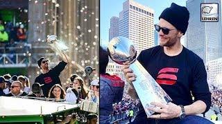 Tom Brady Leads Patriots Celebration Parade After Super Bowl Victory