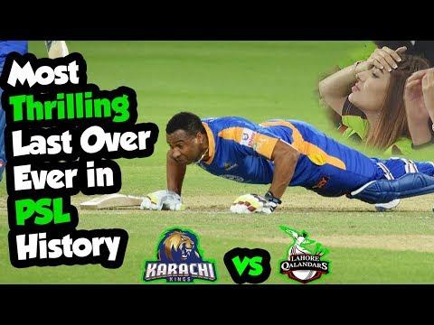 Xxx Mp4 Most Thrilling Last Over Ever In PSL History Lahore Qalandars Vs Karachi Kings HBL PSL 3gp Sex