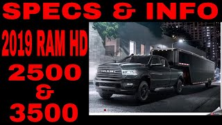 2019 Ram 2500 And 3500 HD Specs And Info - What We Know So Far