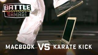 MacBook Air vs. Karate Kick of Death! - WIRED's Battle Damage