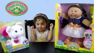 ألعاب بنات بيبي جديد و قطة حلوة Cabbage Patch Kids & Adoptimals