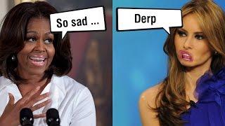 Michelle Obama Reacts to Melania Trump