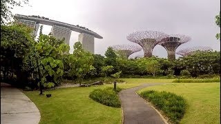 Singapore Daytime Walk. Gardens by the Bay