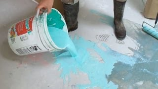 Concrete Primer Application before Using Self Leveling Underlayment: How-to DIY Mryoucandoityourself