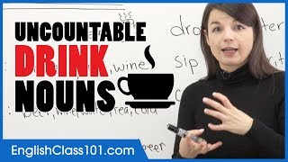 Uncountable English Nouns to Count Drinks - Basic English Grammar