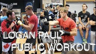 LOGAN PAUL & JAKE PAUL PUBLIC WORKOUT
