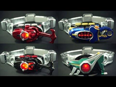 仮面ライダー カブト コンセレのベルトに DXカブトゼクター DXダークカブトゼクター DXガタックゼクター DXホッパーゼクターを付けてみた