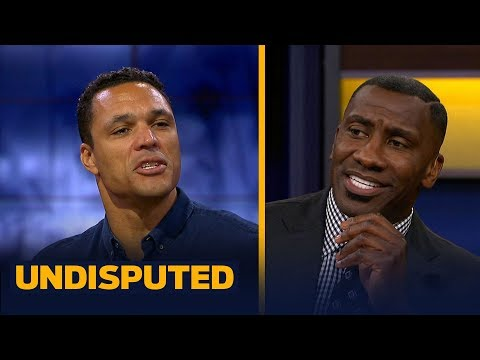 Tony Gonzalez and Shannon discuss who was a better TE while comparing Gronk and Kelce UNDISPUTED