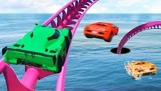 GTA 5 ROLLERCOASTER RACE BATTLE!