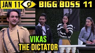 Vikas Gupta Becomes DICTATOR In The House | Bigg Boss 11 Day 102 | 11th January 2018 Episode Update