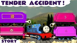 Thomas & Friends Tender Accident and Learn Colors with Minions - Train Toys for Kids & Children TT4U