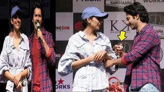 Varun Dhawan FLIRTS With Banita Sandhu At October Movie Promotions In Sophia College