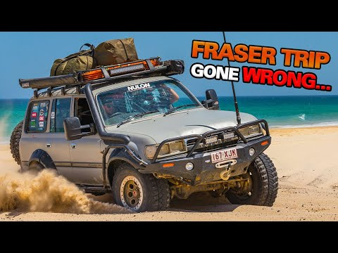 FRASER ISLAND DURING A CYCLONE 100km winds beach washed away How do we make it off the island