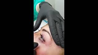Tatuaggio linea occhi  eyeliner sfumato