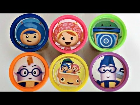 Nick Jr. TEAM UMIZOOMI Learn Colors Numbers with Playdoh Toys Milli Geo Bot Umi Car TUYC